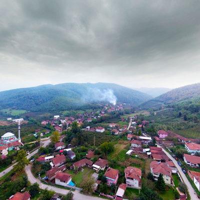 Sarıdere Köyü Havadan Orta Mahalle