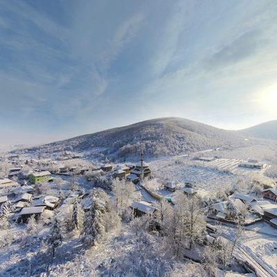 Sarıdere Köyü - Havadan Kış