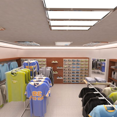 3D Sport Clothing Stores drawing - 1