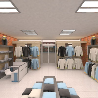 3D Sport Clothing Stores drawing - 2