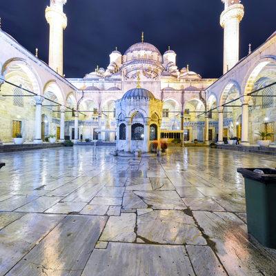 Yeni Camii Gece - Dış Kapı