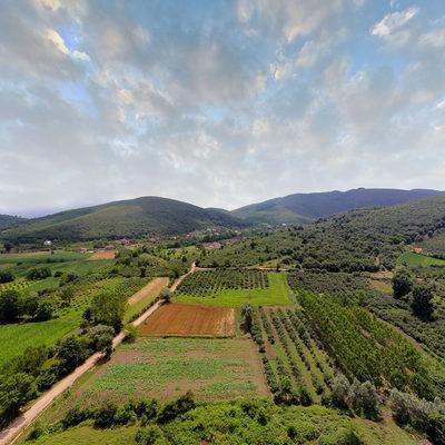 Sarıdere Köyü - Mera - Havadan 1