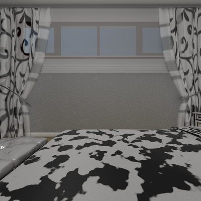 3D Yatak Odası Çizimi 3