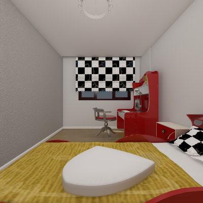 3D Yatak Odası Çizimi 5